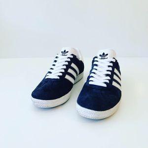 Adidas Gazelle Men's Sneakers Blue Suede Size 8